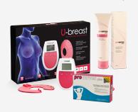 Procurves Plus, Tabletten zur Brustvergrößerung. Silluete Plus, Creme zur Brustvergrößerung. U-Breast, Elektrostimulationsgerät zur natürlichen Brustvergrößerung
