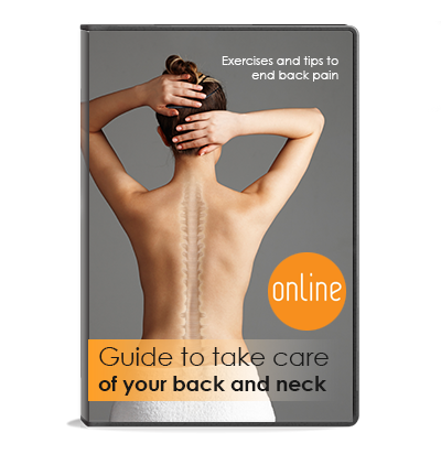 Guide for caring for the back and neck where we give advice for preventing muscular pain, like lumbar and cervical pain.
