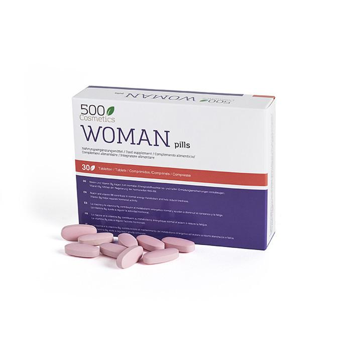 500Cosmetics Woman Pills, Pílulas para aumentar o desejo sexual feminino