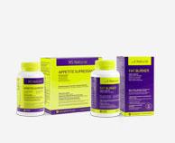 Comprimidos para inibir a fome, XS Natural Appetite Suppressant. Comprimidos para queimar gordura, Fat Burner XS Natural para remover a gordura abdominal.