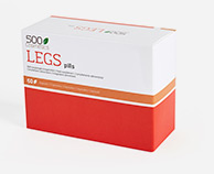 500Cosmetics Legs Pills natürliche Pillen um den Symptomen von Krampfadern vorzubeugen.