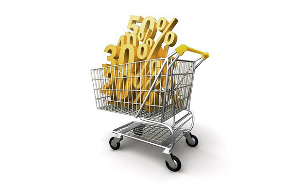 Durchschnittlicher Einkaufskorb mit hohem Verkaufswert