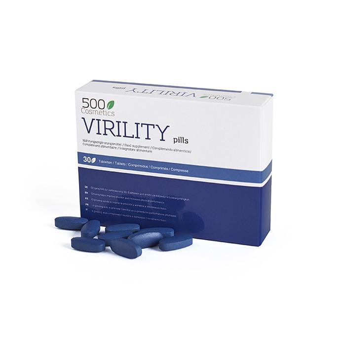 500Cosmetics Virility Pills til forbedring af seksuel virilitet i mænd