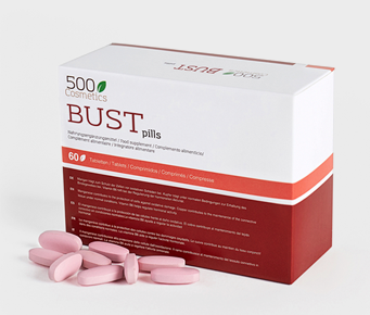 500Cosmetics Bust Pills, Pastillas para reafirmar y aumentar los senos