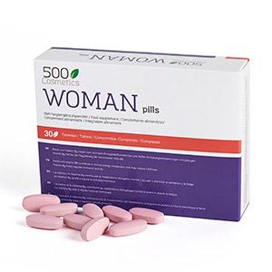 500Cosmetics Woman Pills, complemento alimenticio para mejorar la libido femenina