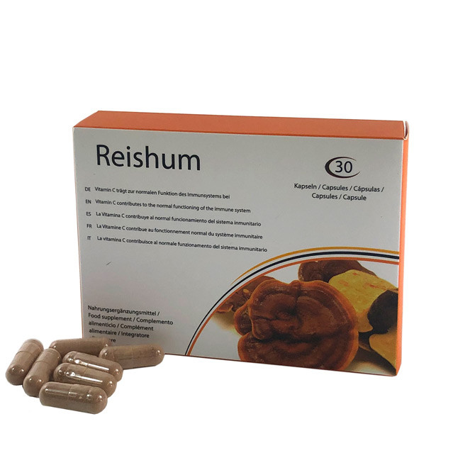 Reishum, capsules to improve the immune system and the mood.