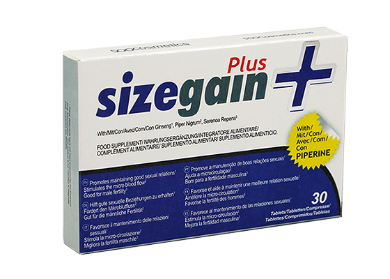 Pills to lengthen the penis: Sizegainplus