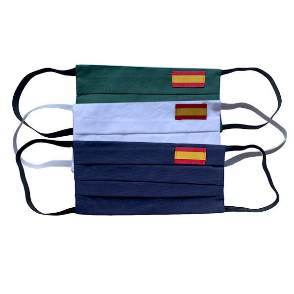 Mascarilla textil con bandera de España
