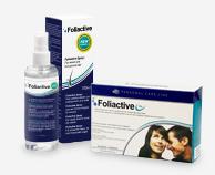 Foliactive Pills pillerit hiustenlähtöä vastaan ja Foliactive Spray edistävät hiustenlähdön pysäyttämistä