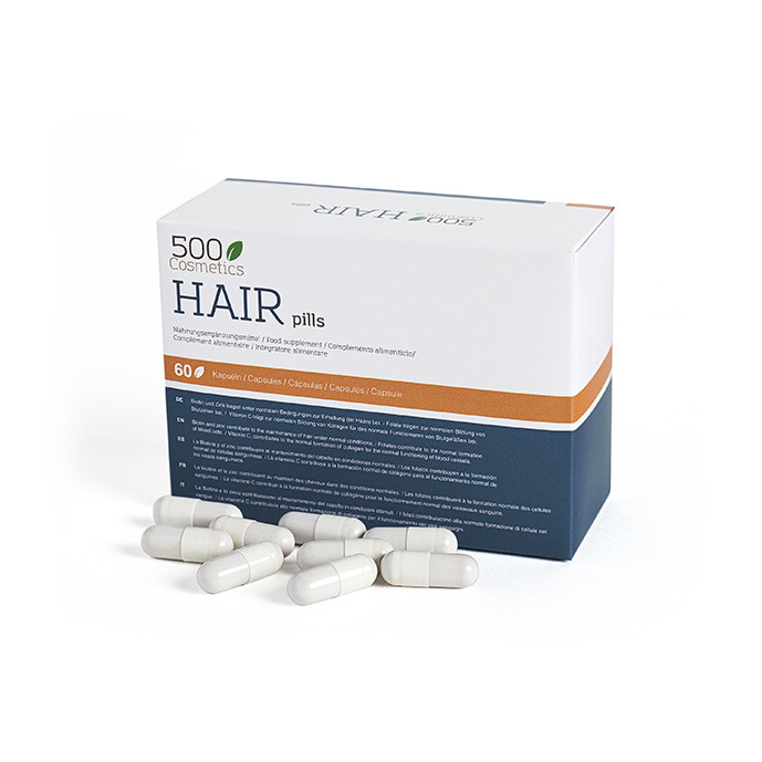 500Cosmetics Hair Pills, capsules  contre la perte de cheveux