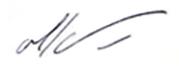 Υπογραφή Doctora María Inés Mallmann
