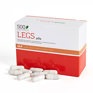 500Cosmetics Legs κάψουλες φυσικές για να αποτρέψει τα συμπτώματα των κιρσών