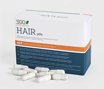500Cosmetics Hair Pills es un complemento alimenticio en pastillas contra la caída del cabello