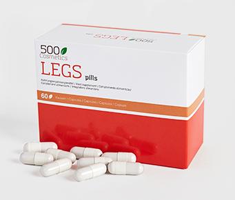 500Cosmetics Legs Pillen natuurlijke capsules om de symptomen van spataderen te voorkomen