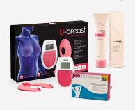 Procurves Pills, tabletter för bröstförstoring. Procurves Cream, Kräm för bröstförstoring. U-Breast enheten är baserad på elektrostimulation för naturlig bröstförstoring